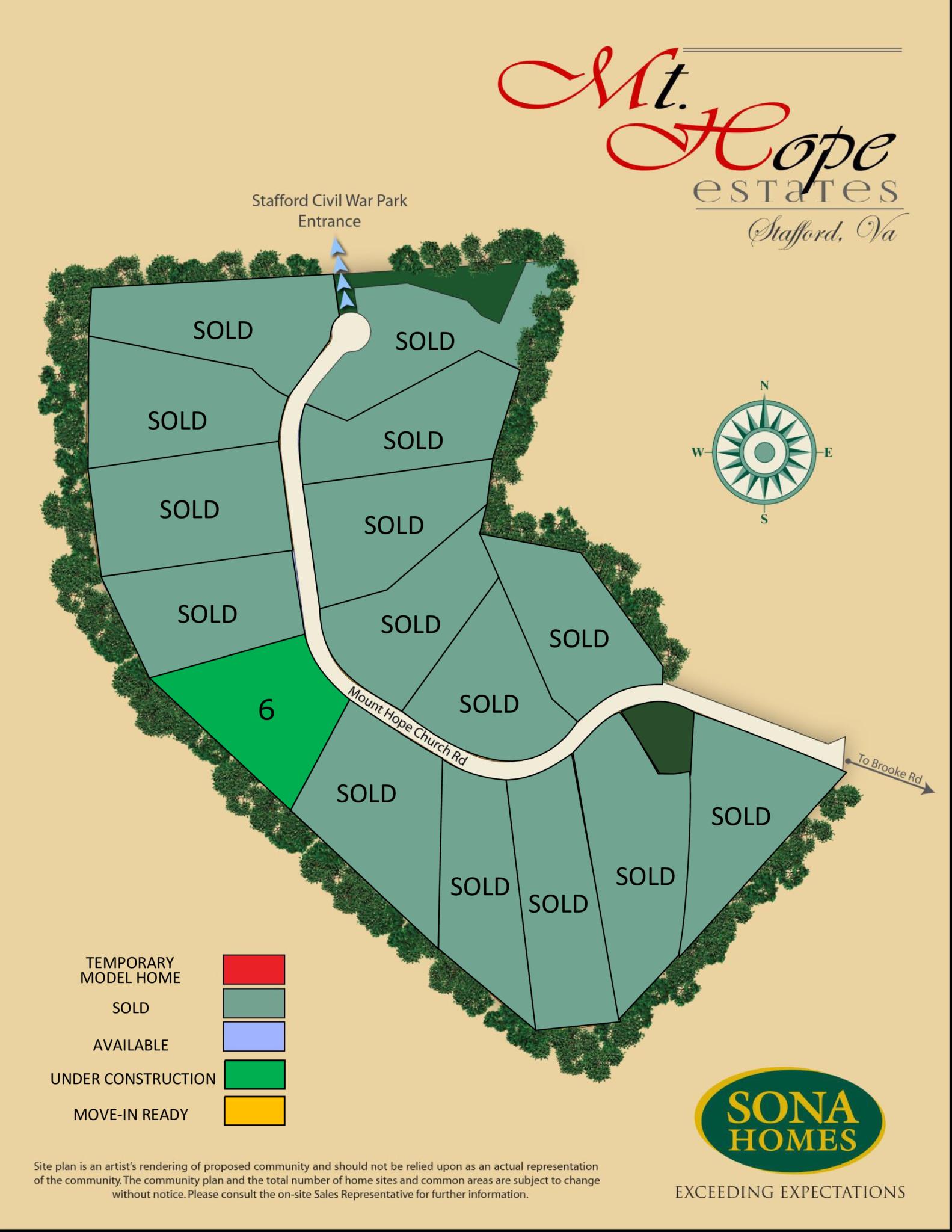 Site Plan of Mount Hope Estates, Stafford, VA